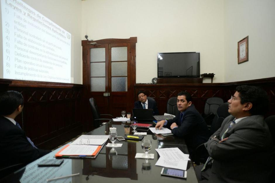 Durante la reunión no estuvo presente Mario Taracena, quien viajó este jueves a Estados Unidos. (Foto: Wilder López/Soy502)