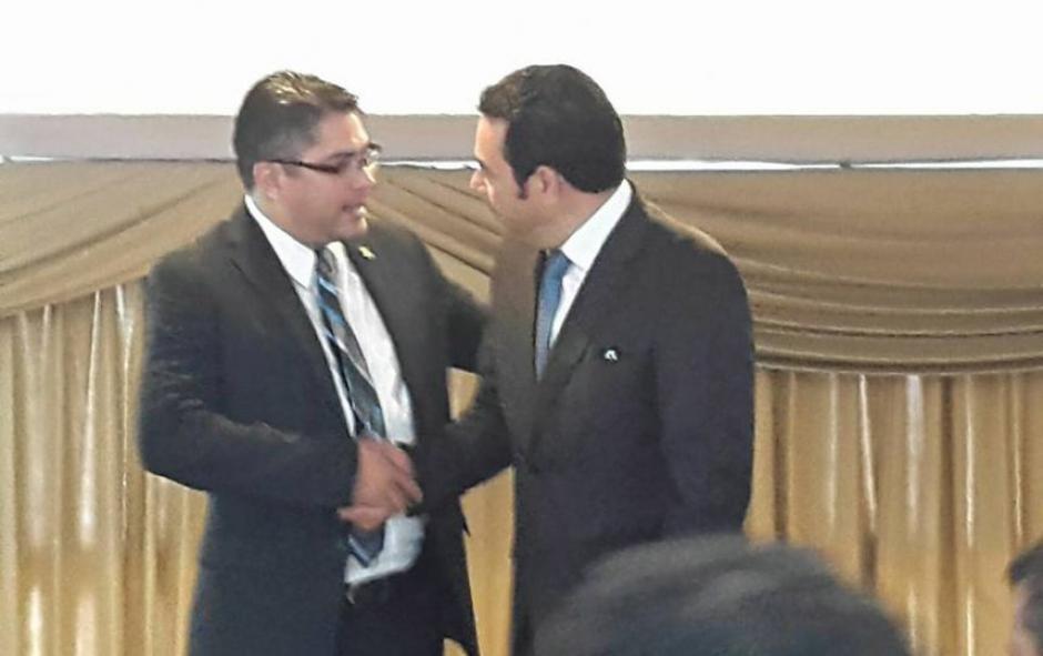 El mandatario y el diputado se conocen desde hace muchos años. (Foto: Facebook/othmar.sanchezherrera)