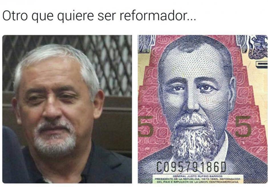 La barba de Otto Pérez Molina fue comentada en redes sociales. (Foto: Twitter/Fernando Ramos)