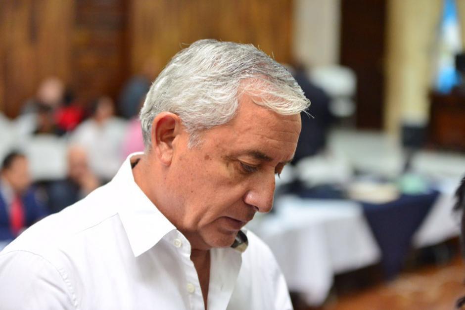 El exmandatario dijo que no le reclamó nada. (Foto: Jesús Alfonso/Soy502)