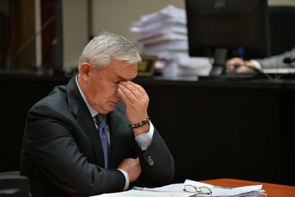 Otto Pérez logró anular la etapa intermedia del caso La Línea para pedir la modificación de sus delitos. (Foto: Wilder López/Soy502)