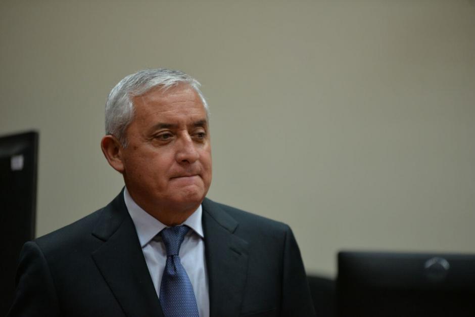 Otto Pérez Molina se molestó por la resolución del juez Gálvez. (Foto: Wilder López/Soy502)
