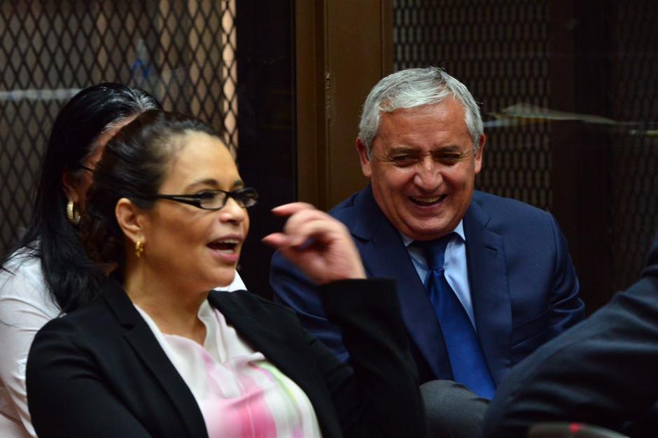 Otto Pérez y Roxana Baldetti volvieron a tribunales para el tercer día de audiencia en caso La Línea. (Foto: Jesús Alfonso/Soy502)