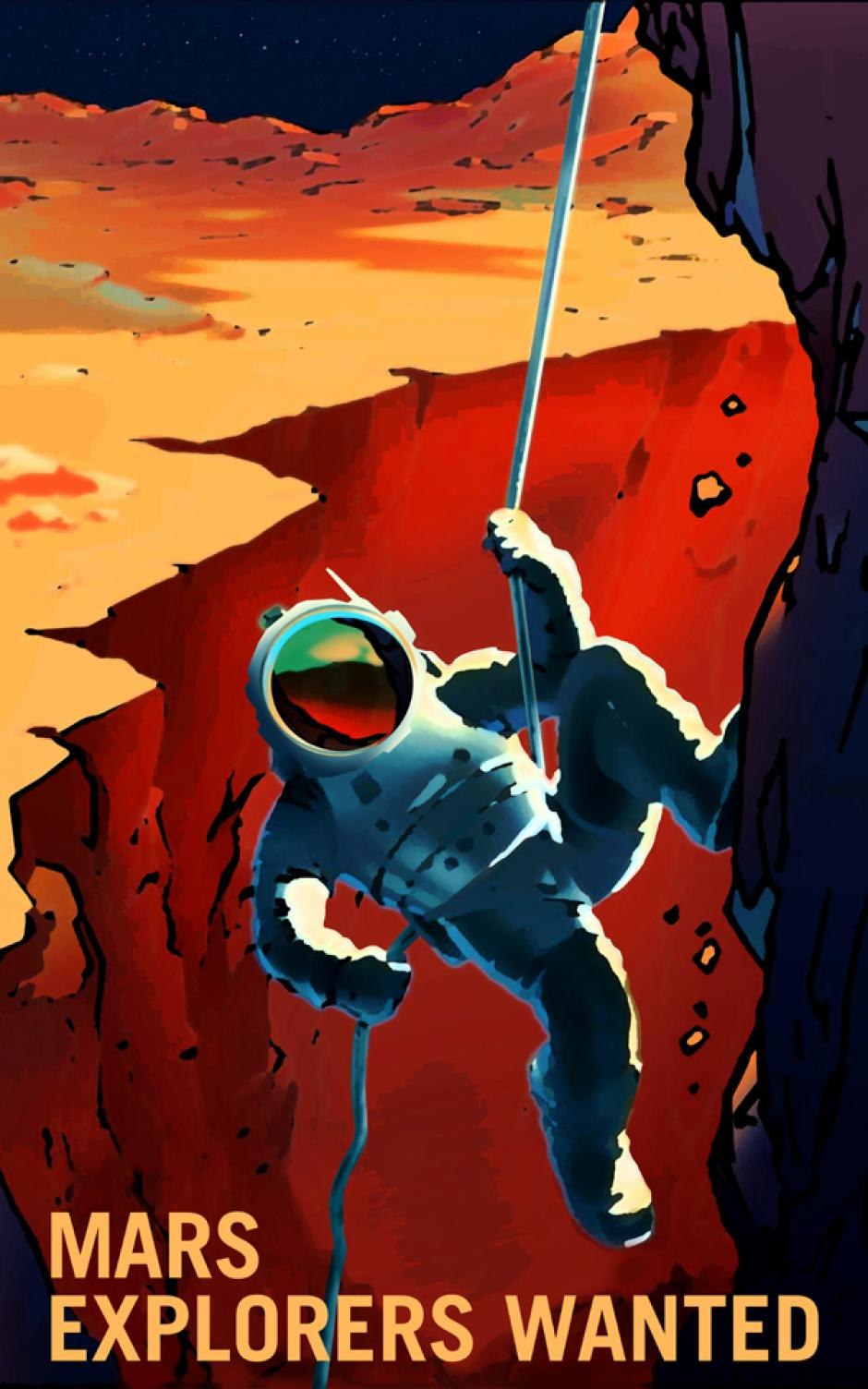 """""""Se buscan exploradores""""(Foto: NASA)"""