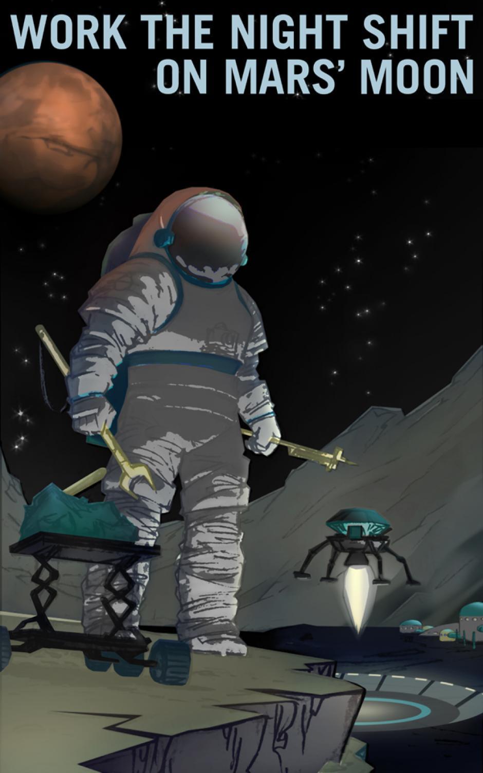 """""""Trabaja el turno nocturno en Marte"""" (Foto: NASA)"""
