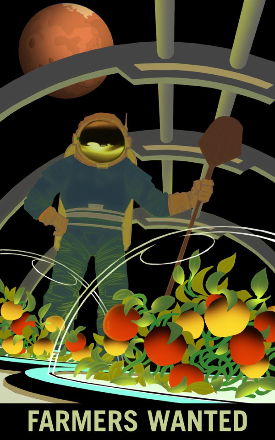 """Se buscan agricultores"" (Foto: NASA)"