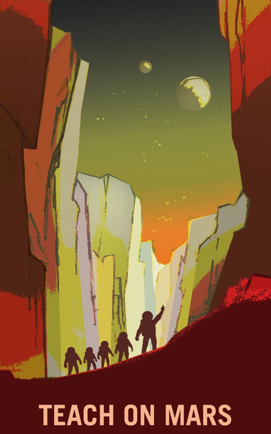 """""""Enseña en Marte"""" (Foto: NASA)"""