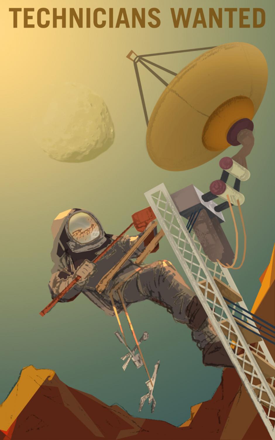 """""""Técnicos en Marte"""" (Foto: NASA)"""