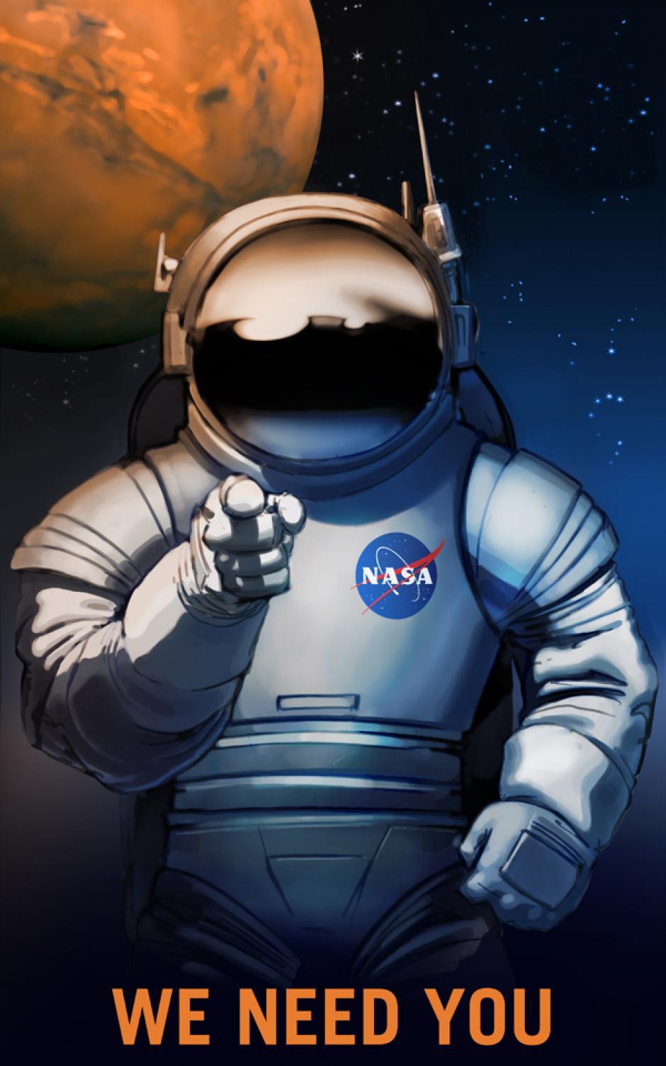 Los afiches animan al público a imaginar la vida en Marte. (Foto: NASA)