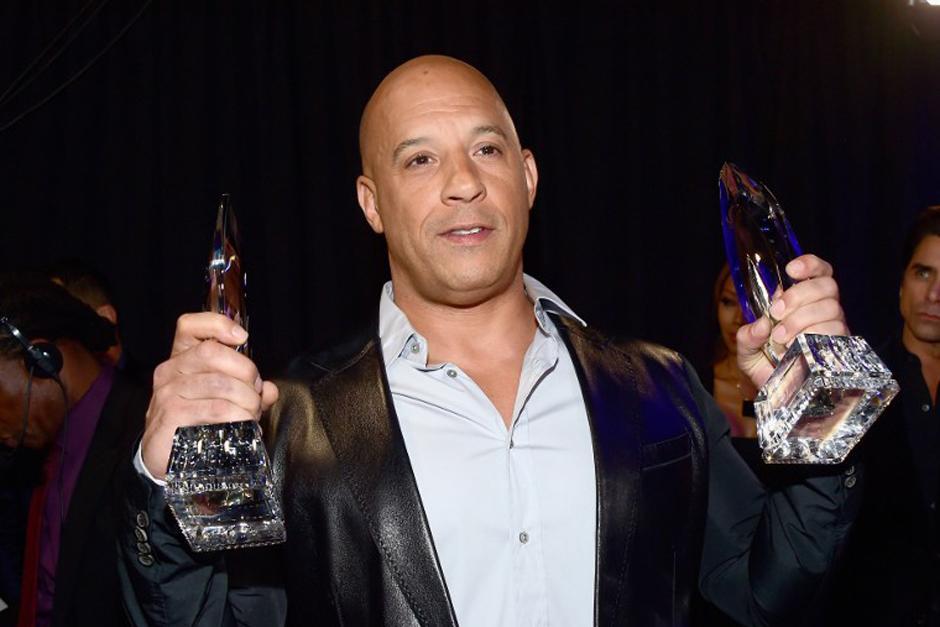 Vin Diesel agradece el premio a Mejor Película y Mejor Película de Acción. (Foto: AFP)