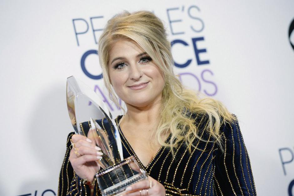 Meghan Trainor, ganadora de álbum favorito. (Foto: AFP)