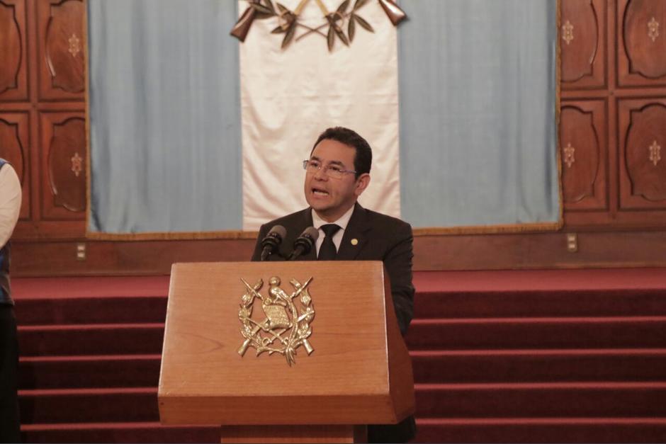 El presidente Jimmy Morales evadió las preguntas sobre el hecho. (Foto: Alejandro Balan/Soy502)