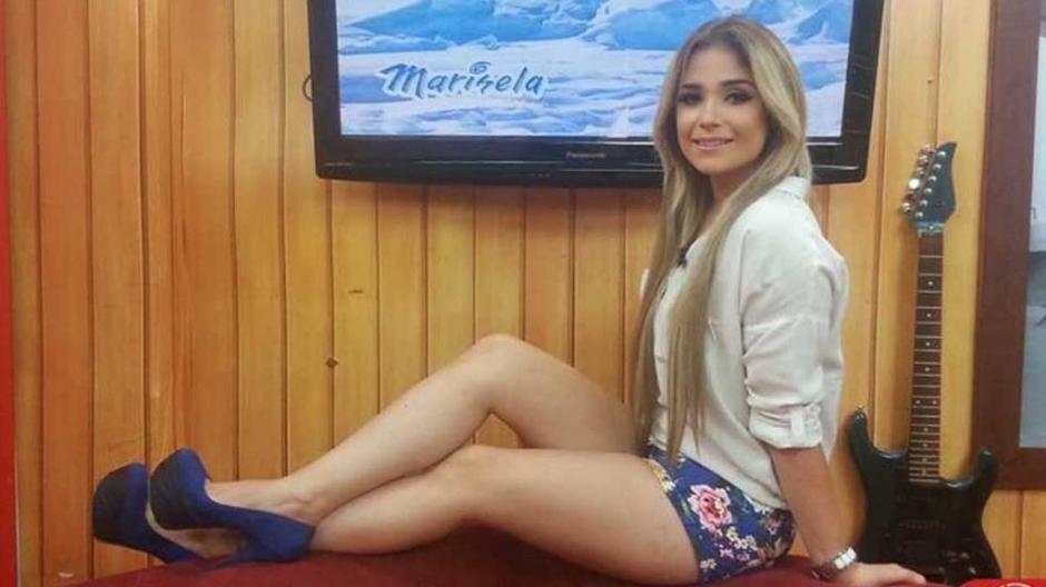 La locutora y presentadora salvadoreña de televisión, guarda prisión preventiva en su país. (Foto: elsalvador.com)