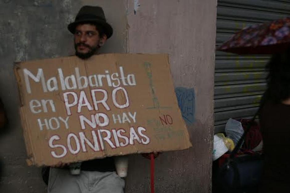 Los guatemaltecos de la economía informal también se unieron al paro. (Foto: José Dávila/Soy502)