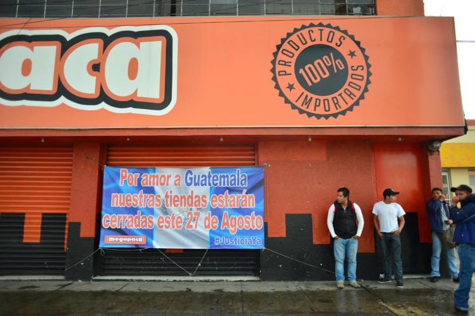 Varias empresas decidieron cerrar para sumarse al paro en una de las jornadas históricas del país. (Foto: Jesús Alfonso/Soy502)