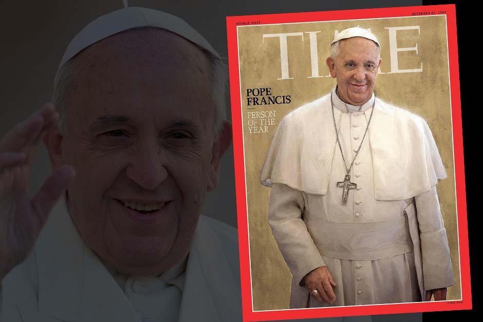 El papa, de origen argentino, fue elegido por Time como la Persona del Año 2013