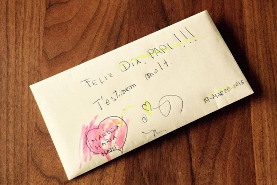 Puyol publicó la carta que encontró  esta mañana en casa. (Foto: Instagram)