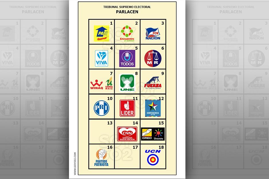 Los diputados que representarán al país en el Parlacen, son seleccionados en la papeleta amarilla. (Imagen Javier Marroquín/Soy502)
