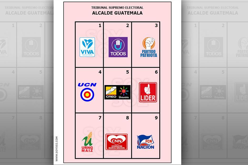 La papeleta rosada es con la que se decidirá quién será el próximo jefe edil de la ciudad de Guatemala. (Imagen Javier Marroquín/Soy502)