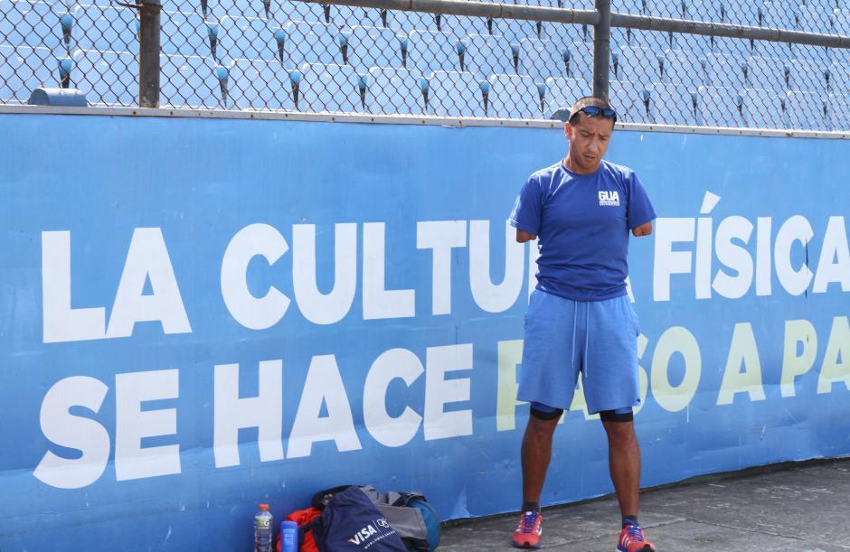 Raúl Pérez acompaña su carrera deportiva dictando charlas motivacionales. (Foto: Luis Barrios/Soy502)