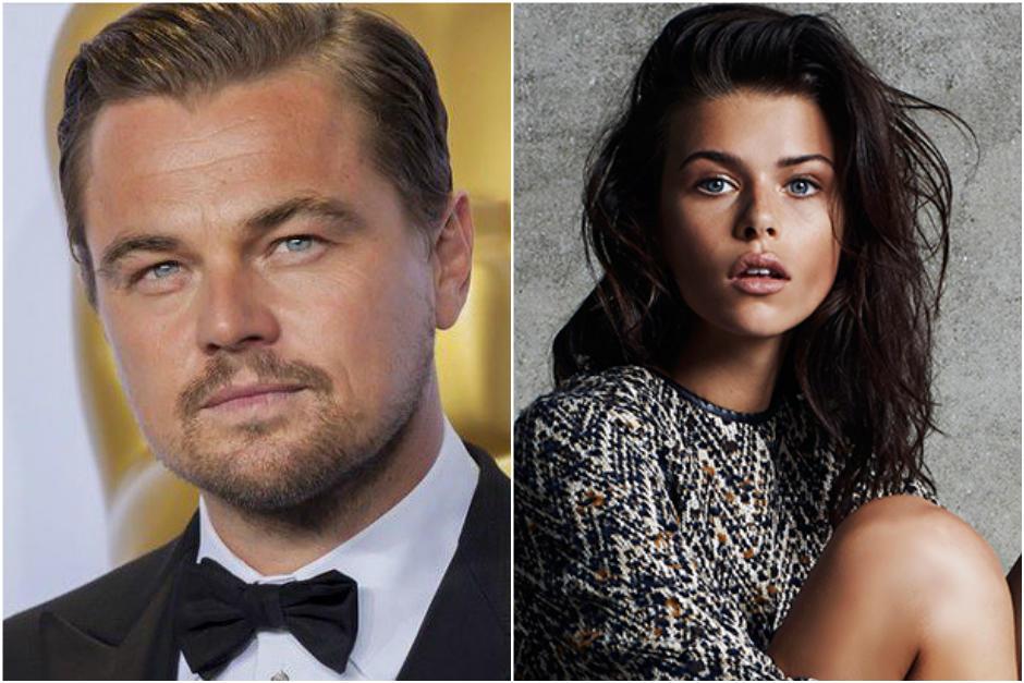 El actor y la modelo fueron vistos en un fiesta en la que se mostraron más que amigables.
