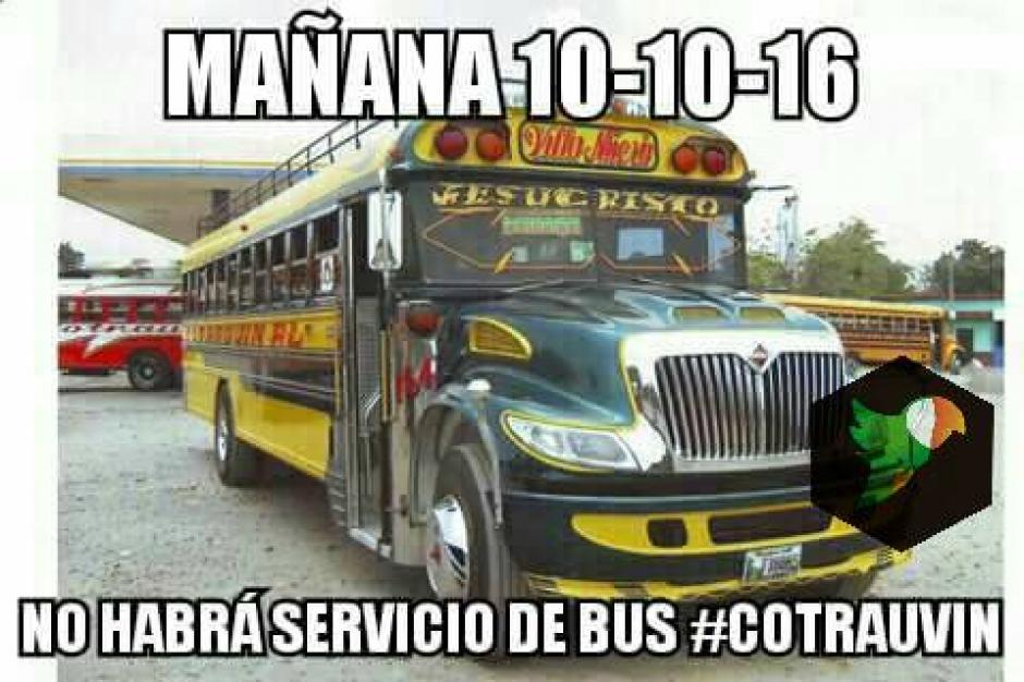 Esta imagen ha sido compartida en las redes sociales por la posible suspensión del servicio. (Foto: Facebook/San Miguel Petapa.com)