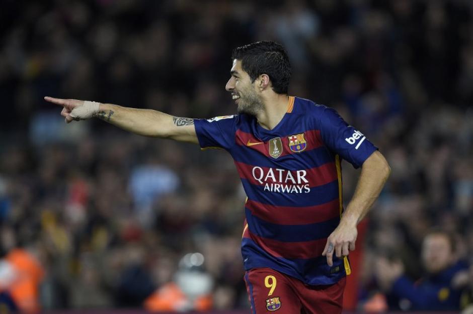 Suárez festejó tres veces contra Celta, supera por dos goles a Cristiano Ronaldo. (Foto: AFP)