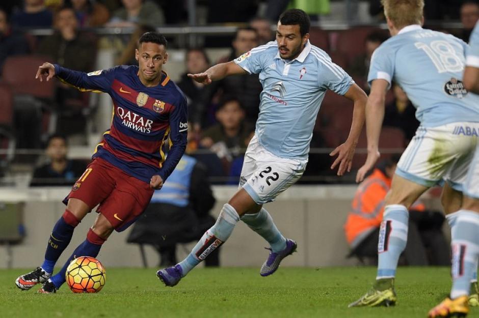 El brasileño, Neymar, puso el sexto de Barcelona. (Foto: AFP)