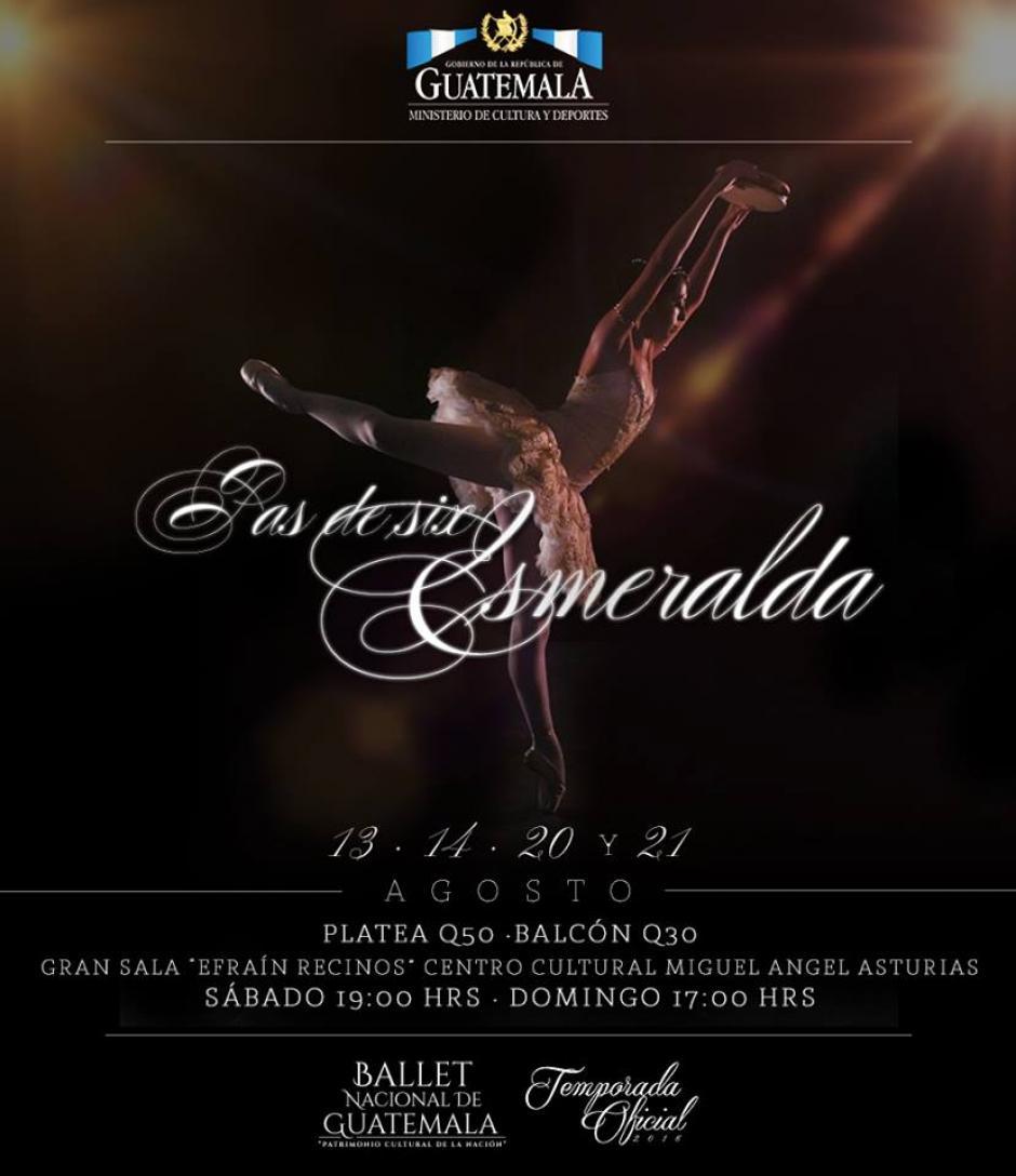 Pas de six Esmeralda es imperdible. (Foto: Ballet Guatemala)