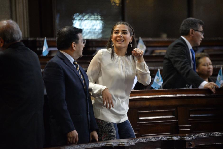 La diputada Patricia Sandoval se desmarcó antes de la votación de Rabbé. (Foto: Wilder López/Soy502)