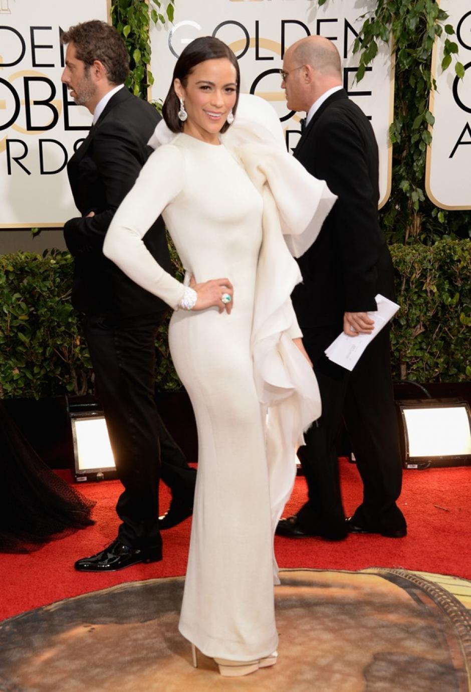 Paula Patton fue duramente criticada por este vestido de Stéphane Rolland Couture, que incluía un exagerado pedazo de encaje del lado izquierdo. (Foto: Mujerhoy)