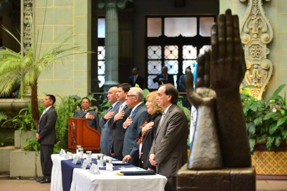 El Patio de la Paz del Palacio Nacional de la Cultura fue el escenario donde se conmemoró la firma de los Acuerdos de Paz. (Foto: Jesús Alfonso/Soy502)