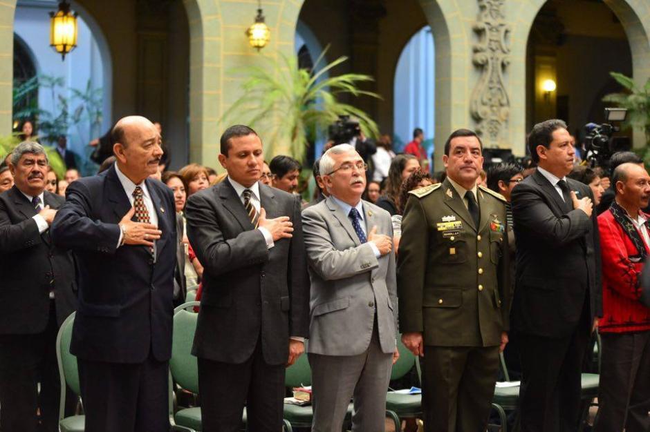 Ministros de Estado e invitados especiales formaron parte de los actos para conmemorar 19 años de la Firma de la Paz. (Foto: Jesús Alfonso/Soy502)