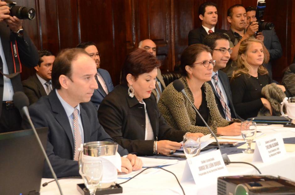 El PDH y la jefa del MP defendieron las reformas constitucionales. (Foto: cortesía de José Castro)