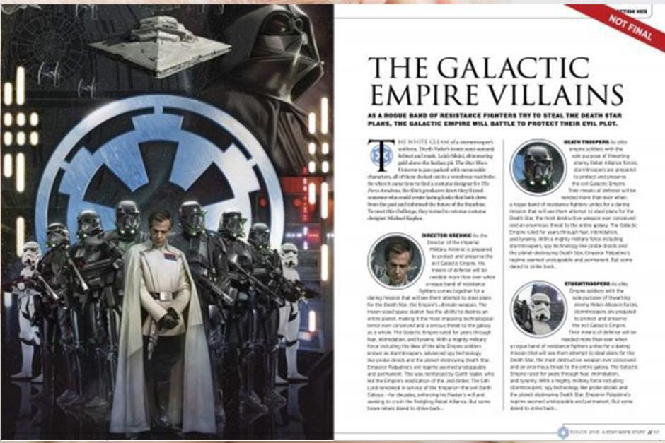 Todo sobre el oficial de alto rango que es el encargado de mantener la construcción de la Estrella de la Muerte. (Foto: Story Guide)