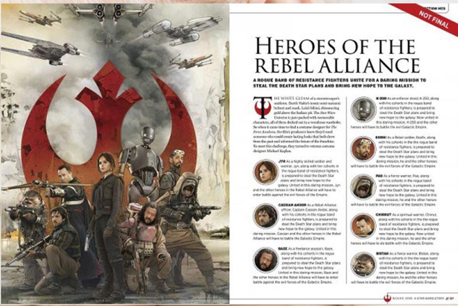 También se revela la primera información sobre los personajes de Diego Luna y Alan Tudyk. (Foto: Story Guide)