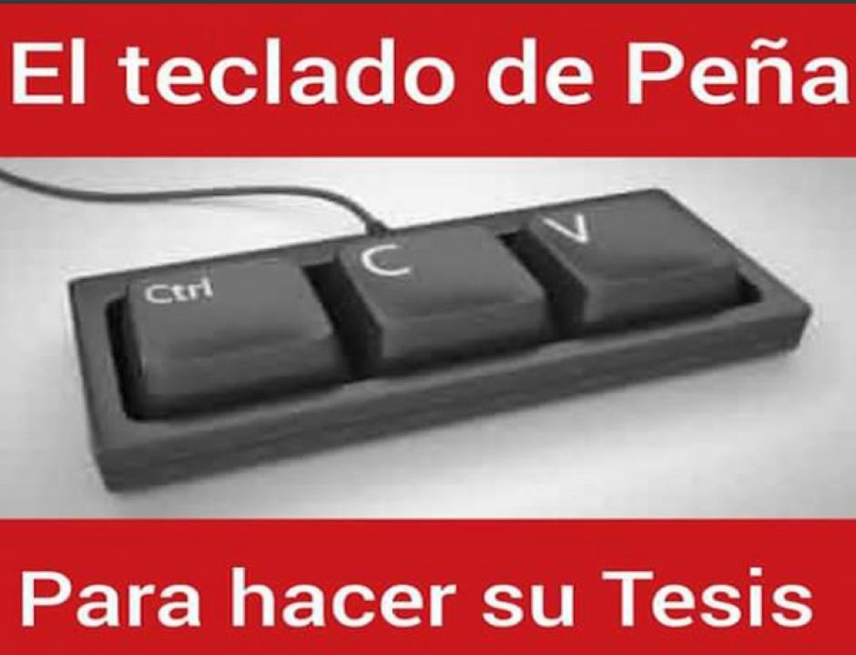 De acuerdo a los memes este es el teclado que usó Enrique Peña Nieto para su tesis. (Foto: Twitter)