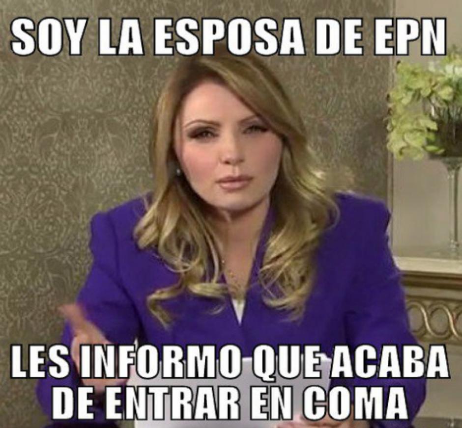 La esposa de Enrique Peña Nieto, Angelica Rivera. (Foto: Twitter)