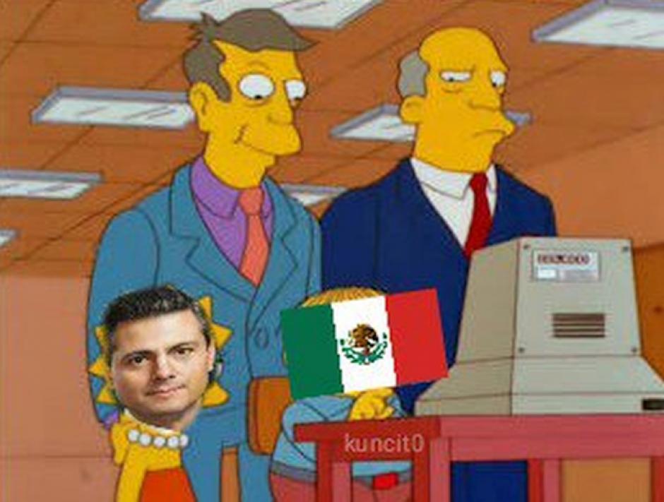 """Los Simpsons no pueden faltar en los """"memes"""". (Foto: Twitter)"""