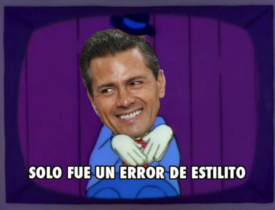 El vocero de Peña Nieto expresó que se trata de un error de estilo en la tesis. (Foto: Twitter)