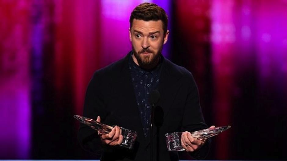 Justin Timberlake recibió dos premios. (Foto: AFP)