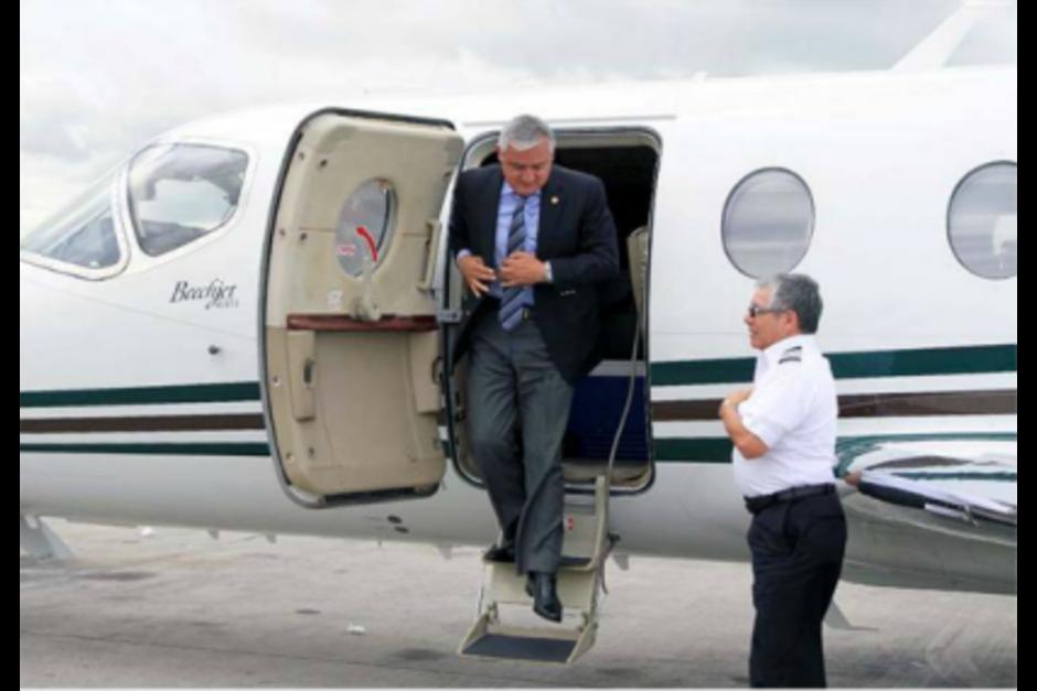 El expresidente también adquirió un jet que costó 1 millón 600 mil dólares (12 millones 212 mil 528 quetzales). (Foto: Cortesía CICIG)