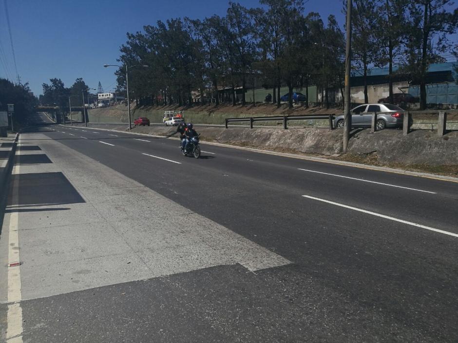 Así se veía el Periférico con destino hacia la zona 1. (Foto: Wilder López/Soy502)