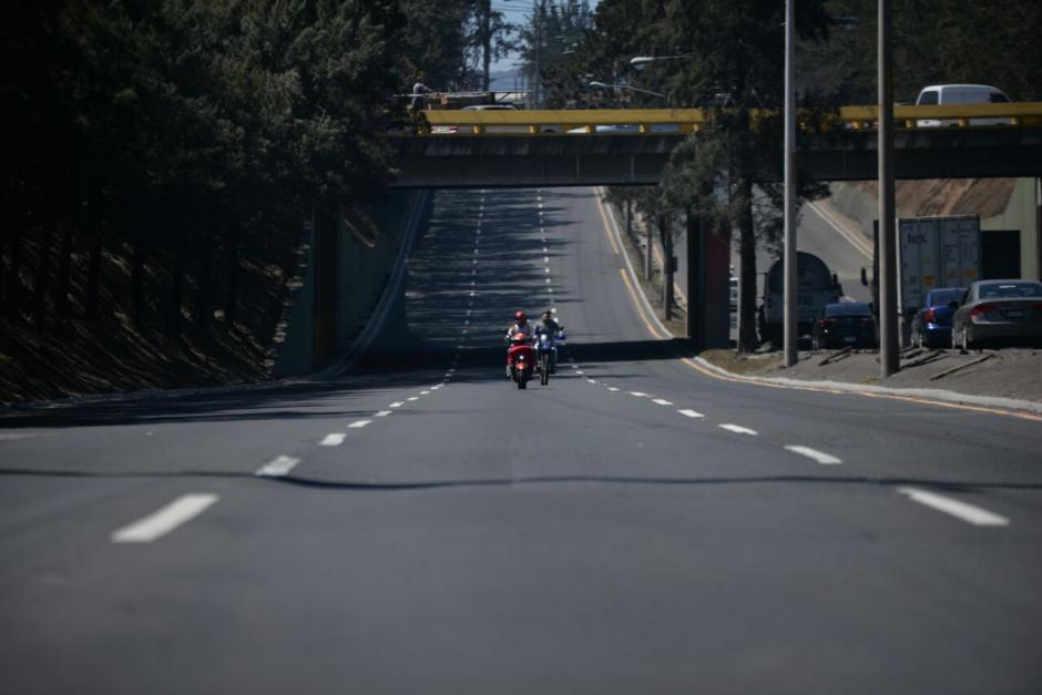 Así estaba el panorama en el Periférico antes de que pasara la manifestación. (Foto: Wilder López/Soy502)