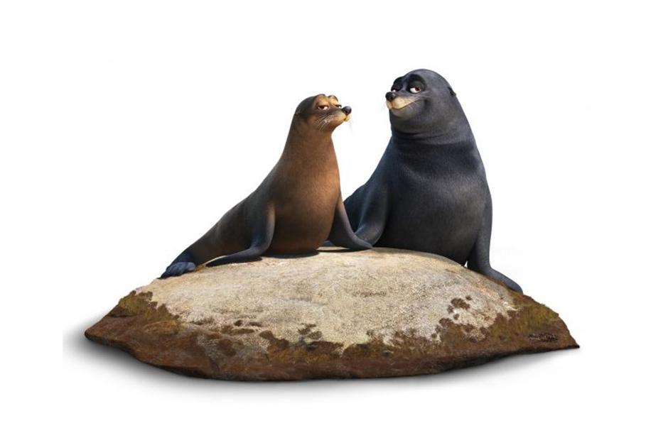 Rudder y Fluye, son el par de leones marinos más simpáticos que jamás hayas conocido. (Foto Pixar)º