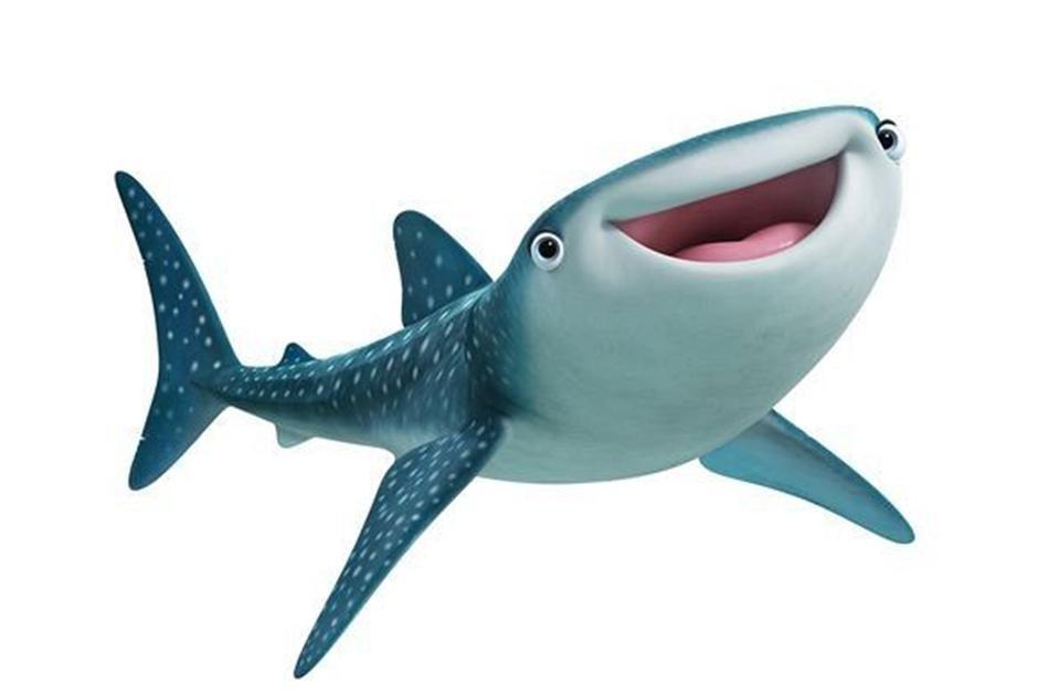 Destiny es el tiburón ballena más adorable y torpe del Instituto de Vida Marina. (Foto Pixar)