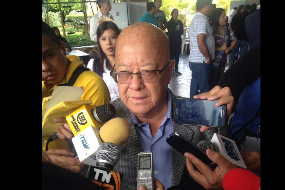 Candidato presidencial del partido Todos, Lizardo Sosa.