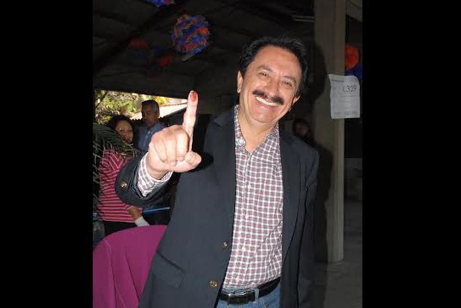 Candidato a presidente por el partido Patriota, Mario David García.