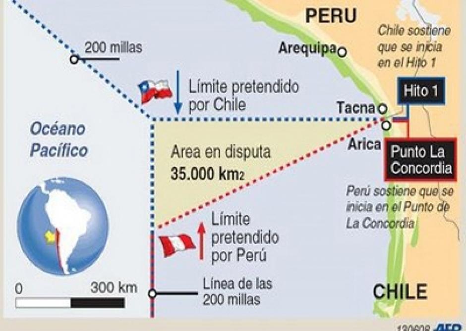 Perú presentó la demanda contra Chile en 2008.