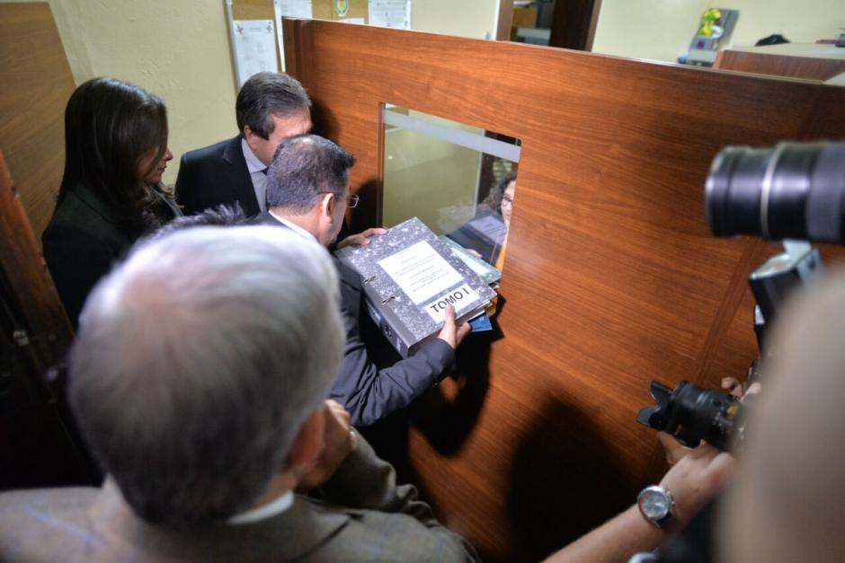 El informe fue entregado a la Dirección Legislativa del Congreso. (Foto: Wilder López/Soy502)